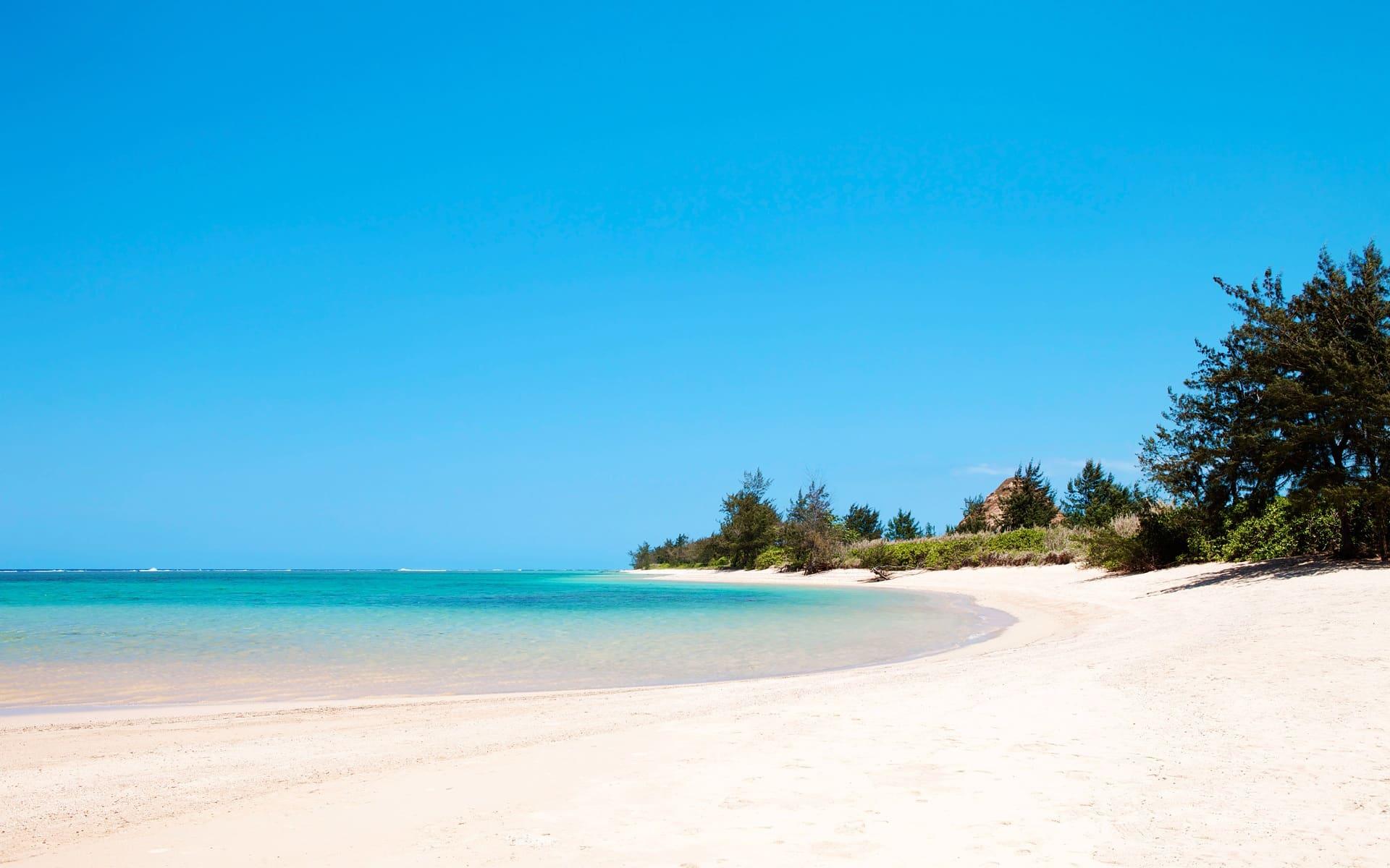 Idyllic Mauritian beach