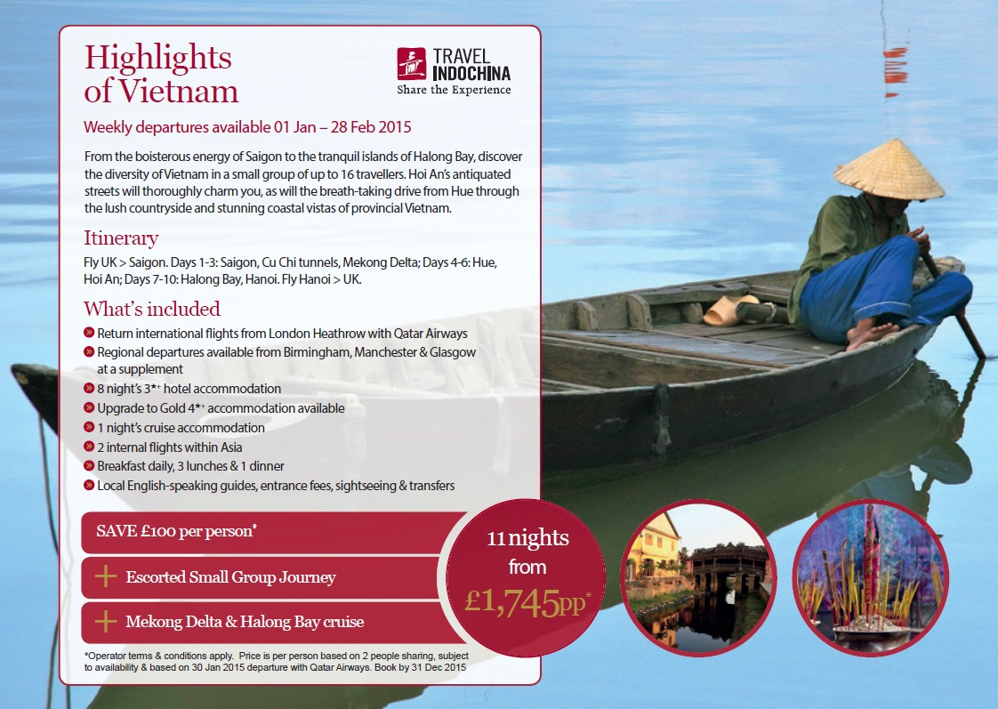 Vietnam tour early booking offer    - Lomani Luxury Travel